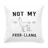 Llama Burlap Pillows