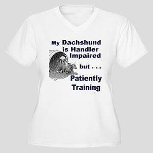 Dachshund Agility Women's Plus Size V-Neck T-Shirt