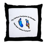 My Carbon Footprint Smaller Throw Pillow