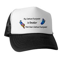 My Carbon Footprint Smaller Trucker Hat