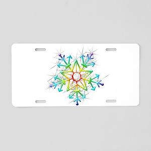 Snowflake Star Aluminum License Plate