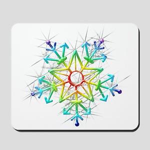 Snowflake Star Mousepad