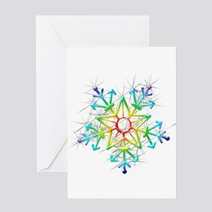 Snowflake Star Greeting Cards