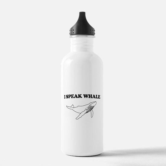 I speak whale Water Bottle