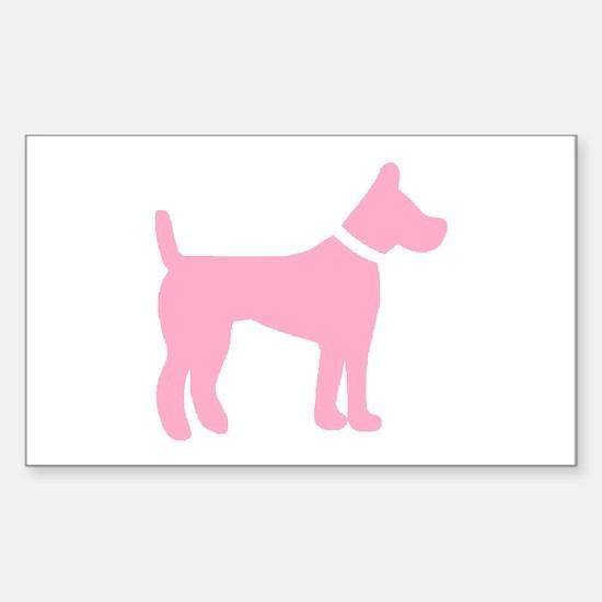 dog pink 2 Decal