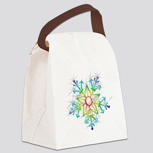 Snowflake Star Canvas Lunch Bag