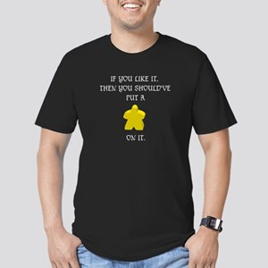 Meeple mash up (WT lettering, dark bk only) T-Shir