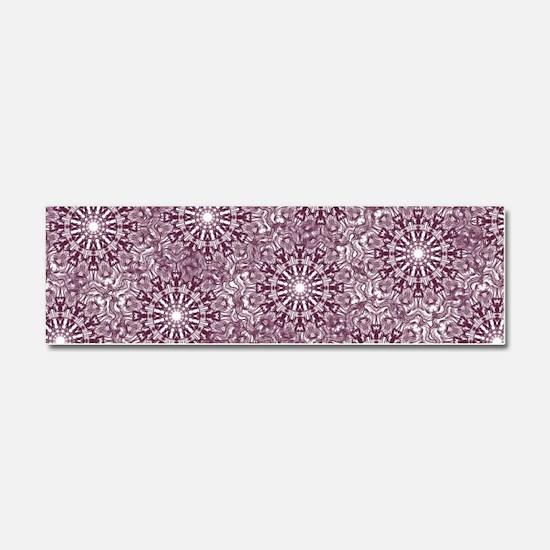 Purple Lace Car Magnet 10 x 3
