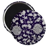 Abstract Whimsical Flowers Magnets