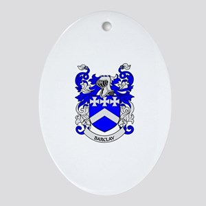 BARCLAY 2 Coat of Arms Oval Ornament
