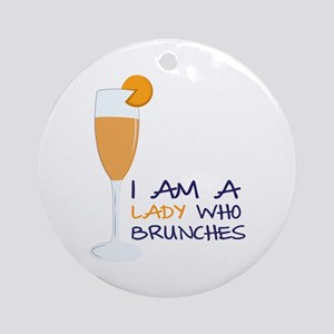 Lady Brunches Ornament (Round)