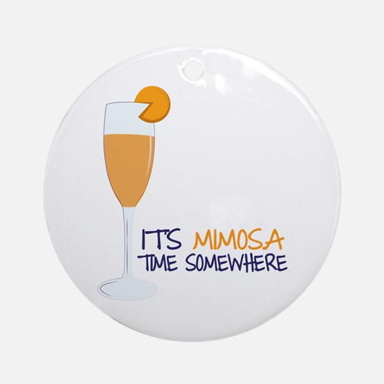 Mimosa Time Ornament (Round)