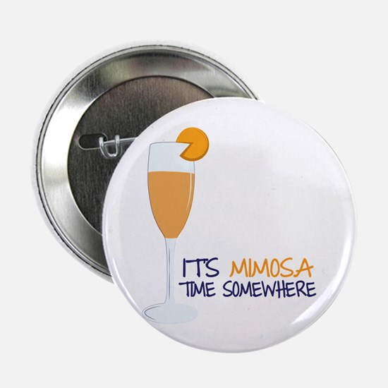 """Mimosa Time 2.25"""" Button (10 pack)"""