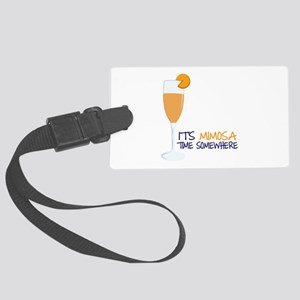 Mimosa Time Luggage Tag