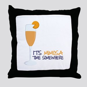 Mimosa Time Throw Pillow