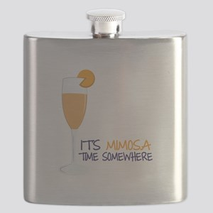Mimosa Time Flask