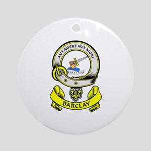 BARCLAY 1 Coat of Arms Ornament (Round)
