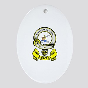 BARCLAY 1 Coat of Arms Oval Ornament