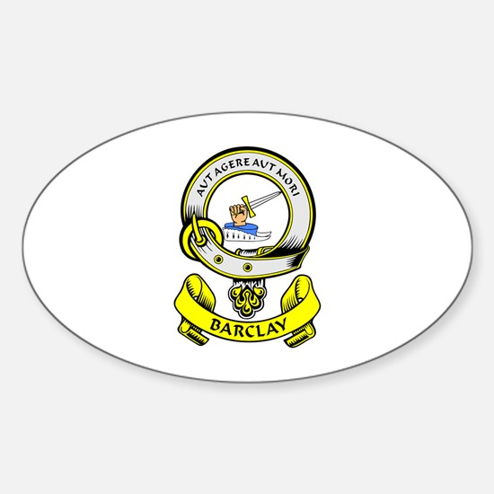 BARCLAY 1 Coat of Arms Oval Decal