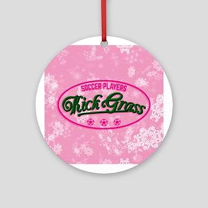 Soccer Players Kickgrass Ornament (round)