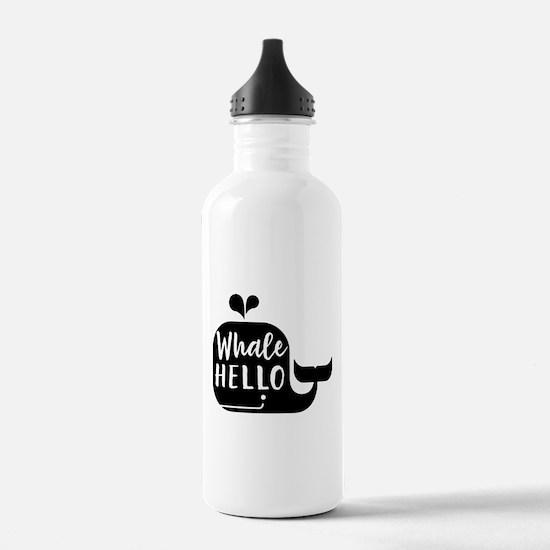 Whale hello Water Bottle