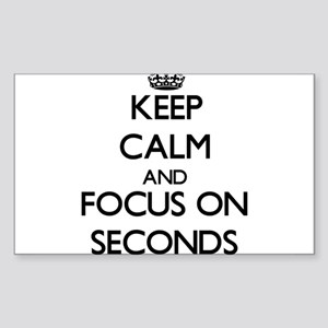Keep Calm and focus on Seconds Sticker