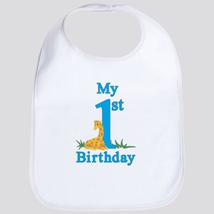 First Birthday Giraffe Bib