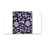 Abstract Whimsical Flowers Rectangle Car Magnet