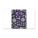 Abstract Whimsical Flowers Car Magnet 20 x 12