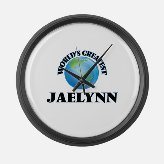 World's Greatest Jaelynn Large Wall Clock