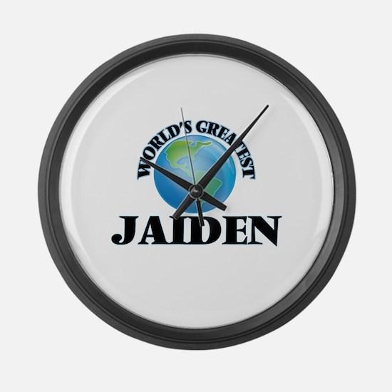 World's Greatest Jaiden Large Wall Clock