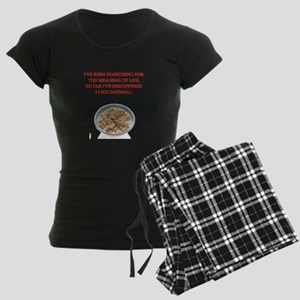 oatmeal Women's Dark Pajamas