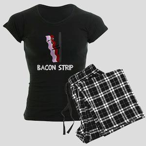Bacon Strip Women's Dark Pajamas