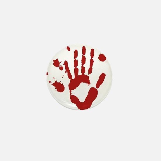 Bloody Hand Print Halloween Mini Button