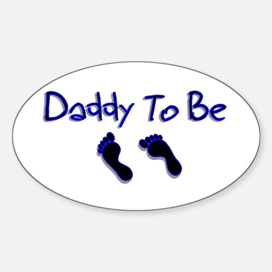 Daddy To Be Oval Decal