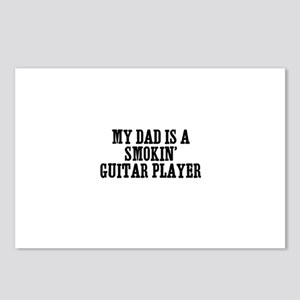 my dad is a smokin' guitar pl Postcards (Package o