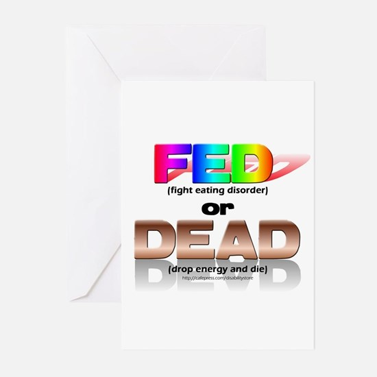 FED or DEAD Greeting Cards (Pk of 10)