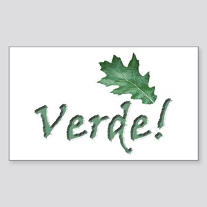 Go Green . Verde global warming sticker