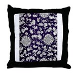 Abstract Whimsical Flowers Throw Pillow