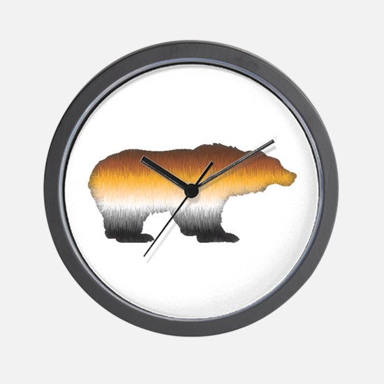 FURRY BEAR PRIDE BEAR CUTOUT Wall Clock