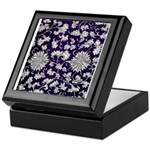 Abstract Whimsical Flowers Keepsake Box