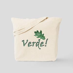 global warming Verde go green Tote Bag