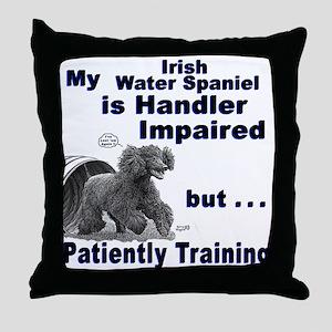 Irish Water Spaniel Agility Throw Pillow