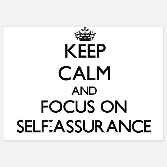 Keep Calm and focus on Self-Assurance Invitations
