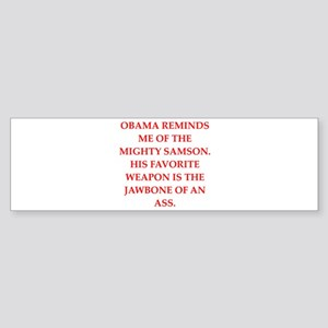 anti obama Sticker (Bumper)