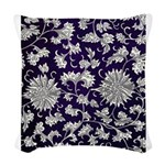 Abstract Whimsical Flowers Woven Throw Pillow
