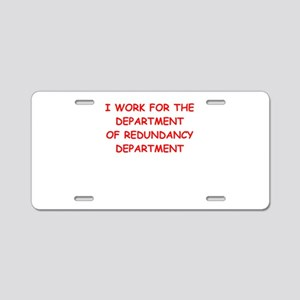 government Aluminum License Plate