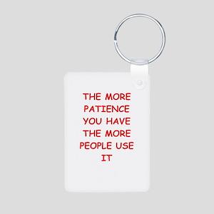 patience Aluminum Photo Keychain