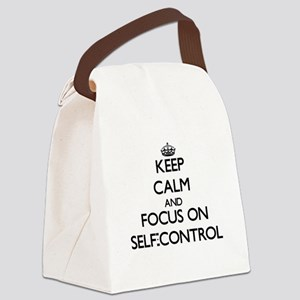 Keep Calm and focus on Self-Contr Canvas Lunch Bag