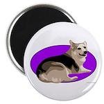 Corgi Round Magnet